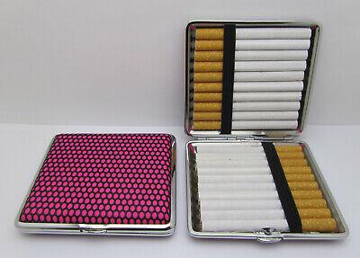 2x Zigarettenetui Zigarettendosen Lederoptik Filterzigaretten Zigarettenbox Etui