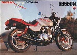 Brochure Suzuki Katana GS 550 M - Motocicletta primi anni 80 - Italia - Restituzione con condivisione delle spese postali - Italia