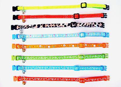 Katzenhalsband Glöckchen viele Farben Halsband Katze Nylon Neon reflektierend ()