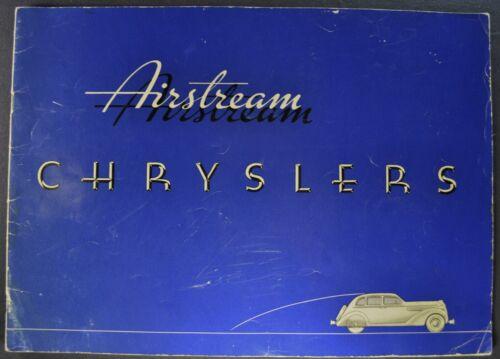 1935 Chrysler Airstream Prestige Brochure Touring Sedan Coupe Nice Original 35