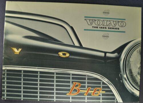 1963-1964 Volvo 122S Sedan Catalog Sales Brochure B18 Excellent Original