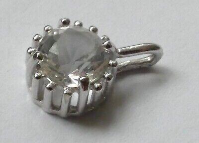Anhänger Bergkristall Brillantschliff 925 Silber Vintage 70er pendant silver gebraucht kaufen  Maintal
