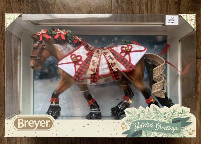 Breyer Yuletide 2020 Christmas Holiday Horse Shire Gelding NEW!!!