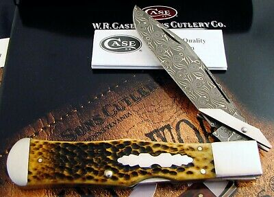 Case Tony Bose DELUXE DAMASCUS Swing Guard Knife 2014 Issue 1 of 100 MIB AAA+ NR