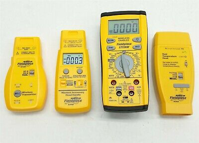 Fieldpiece Lt17aw Hvac Hvacr Wireless Multimetereh4wet2wath4 Temp Head Lot 4