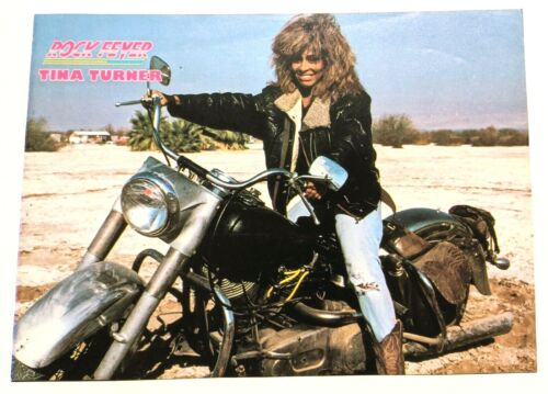 TINA TURNER ON A MOTORCYCLE / 1980