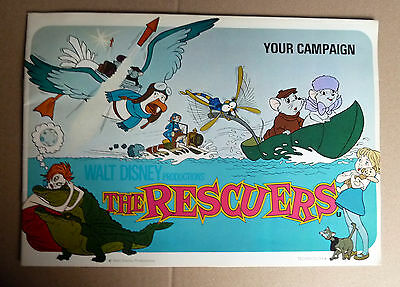 WALT DISNEY * THE RESCUERS -Werberatschlag UK-CAMPAIGN BOOK 24 Seit. ENGLISH ´77