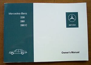 1976 Mercedes 230/280/280C Owners Manual-W114-1973-1976 NOS Discontinued