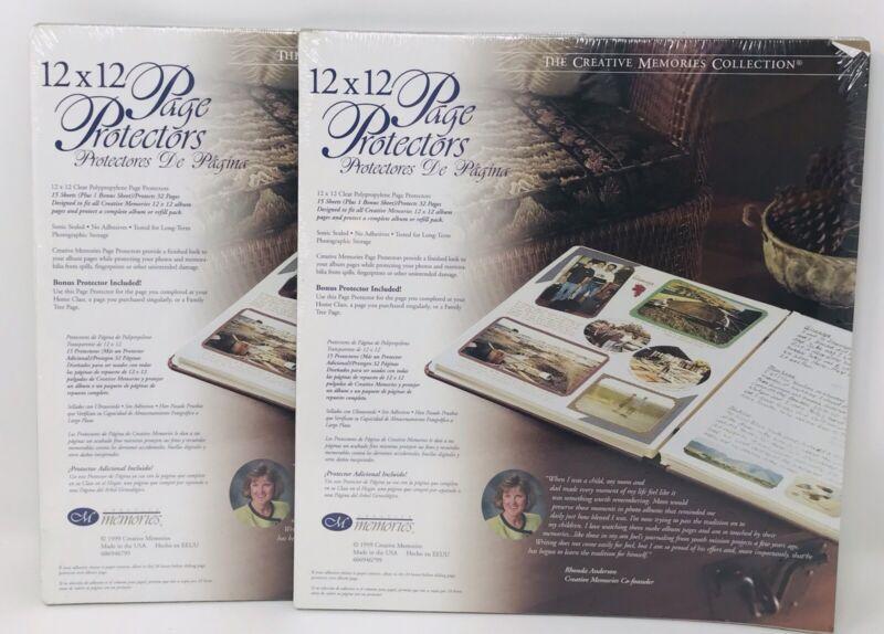 12 x 12 Creative Memories Sheet Protectors 15 Sheets (2 Packs) 30 Sheets