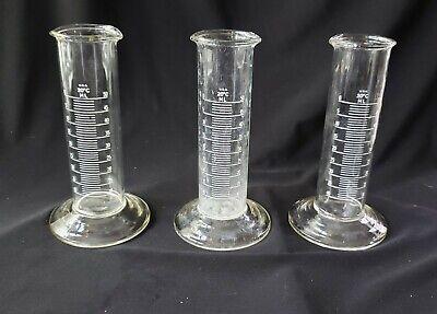 Vintage Laboratory Small Glass Beakers 3 Matching 4