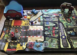 Kids car lot & truck coat hanger