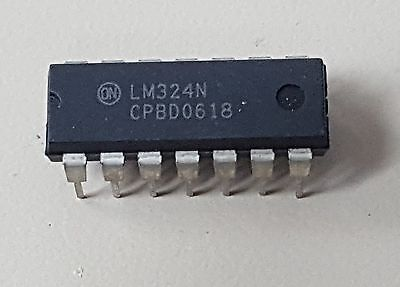 Lm324n Lm324 Ic 324 Low Power Quad Op-amp Dip Usa Seller 5pcs