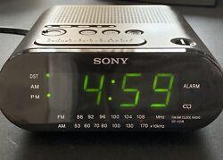 Sony Dream Machine ICF-C218 FM AM Alarm Clock Radio Automatic DST Set