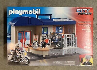 PLAYMOBIL #5689 Take Along Police Station NEW Factory Sealed