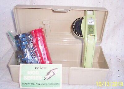 Dymo 1610 Label Maker Writer W Hard Case 1 Wheel Plus 20 Color Tape Rolls
