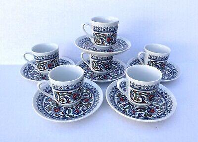 Gural Porselen Turkish Coffee / Tea / Espresso Cup and Saucer Set Kahve Tamimi
