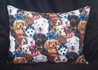 Couch-Sofa Accent Designer Pillow - Dogs And Puppies ()
