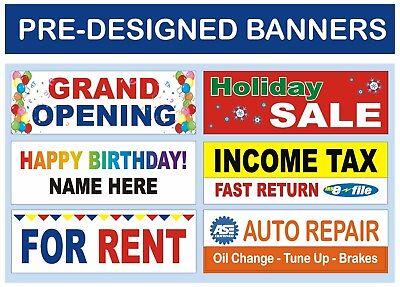 Pre-designed Income Tax Vinyl Banner  4 X 12