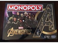 RARE Collection New Monopoly  Marvel Avengers  Golden Endgame Special Edition