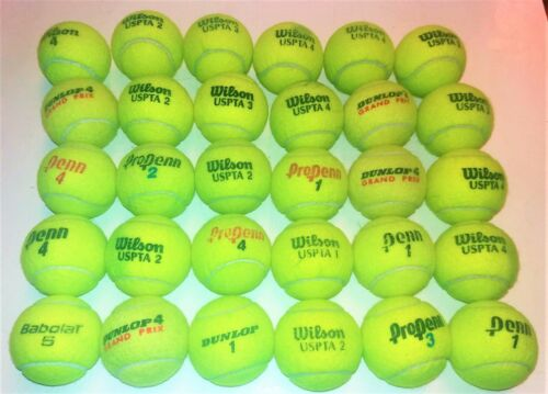USED TENNIS BALLS-GOOD CONDITION-  1 2 3 4 5 15 25  REUSE & DOG TOYS