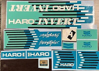 Old school BMX freestyle /'85 /'86 Green Haro MASTER handle bar stickers decals