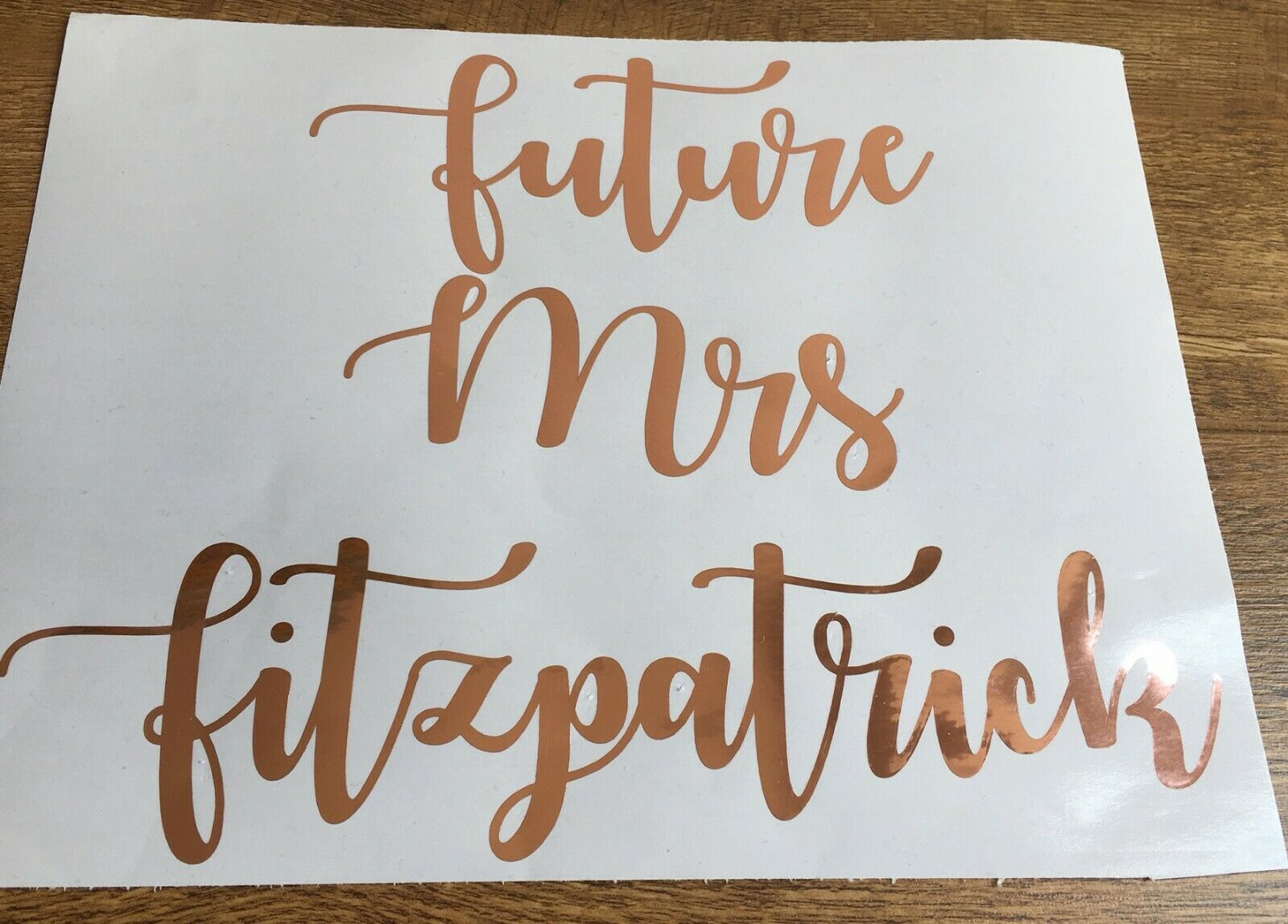 Rose Gold Vinyl Stickers, Chrome, Shiny Labels, Decals Storage, House, Mrs Hinch 4