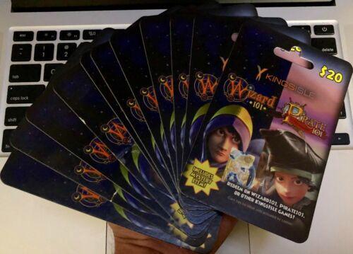 Wizard101 Pirate101 Game Card Kroger 20$ [Digital code] Pet Jewel