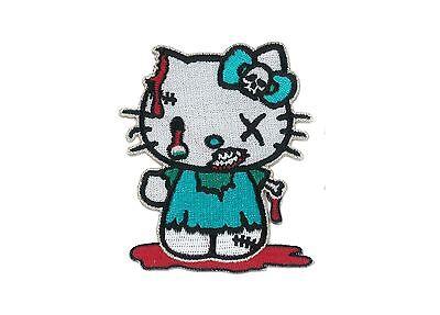 Hello Kitty Zombie Iron-ON Patch Cat Kawaii Kawai Kowai Jpop Kpop Cosplay Tokyo