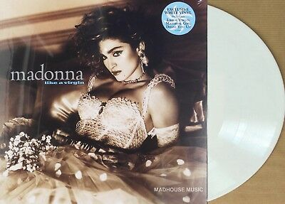 MADONNA LP Like A Virgin WHITE Vinyl LIMITED EDITION 2018 New SEALED 140g + Stkr