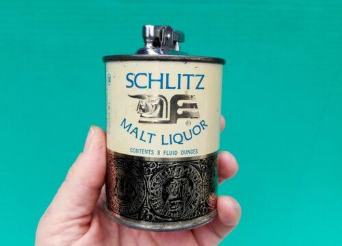 1968 Jos Schlitz Brewing Co SCHLITZ MALT LIQUOR Beer Can Table Lighter