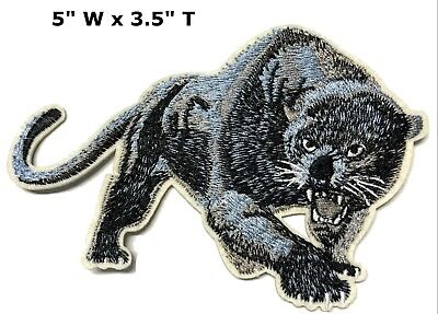 Black Panther Big Cat - Black Panther Big Cat Series Embroidered Patch Iron / Sew-on Lions Bears Cats
