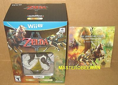 The Legend of Zelda Twilight Princess HD Amiibo Bundle New + Soundtrack Wii U comprar usado  Enviando para Brazil