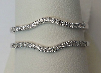 Petite 1/5ct Prong Set Solitaire Enhancer Diamonds Ring Guard Wrap White -
