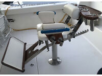 Pompanette Offshore Deluxe Tournament Deck Marlin Sport Fishing Fighting Chair