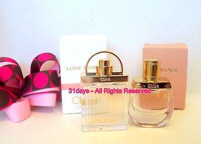 NEW Chloe Nomade & Love Story Eau de Parfum Women Mini Perfume Splash