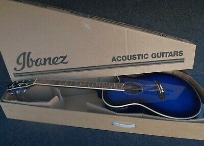 IBANEZ AEG10II-TBS Acoustic-Electric Guitar & Tuner Fishman pickup BLUE SUNBURST
