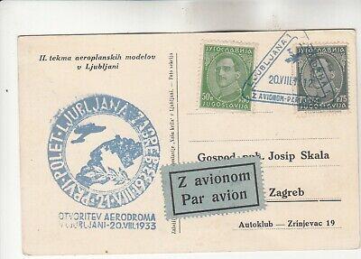 Yugoslavia Special Flight Cancellation Postcard
