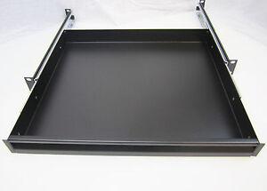 1u rack drawer sliding shelf audio 19 rack mount. Black Bedroom Furniture Sets. Home Design Ideas