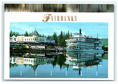 Postcard Fairbanks, Alaska AK Riverboat Discovery III tour boat ACE1168
