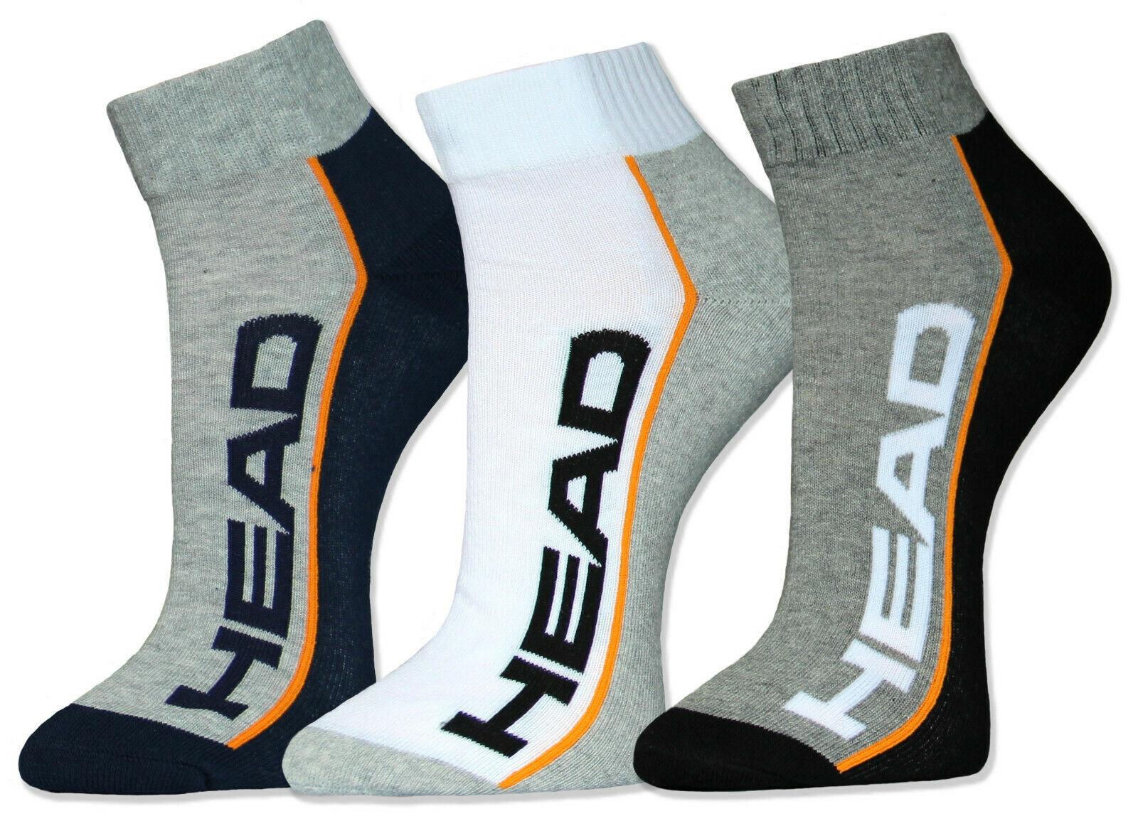 HEAD Sportsocken Quarter Kurzschaft Socken 2 / 4 / 6 Paar Frotteesohle Kurzsocke