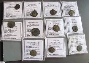 Authentic Cleaned late Roman coins from between 300-400 AD. Carrum Kingston Area Preview