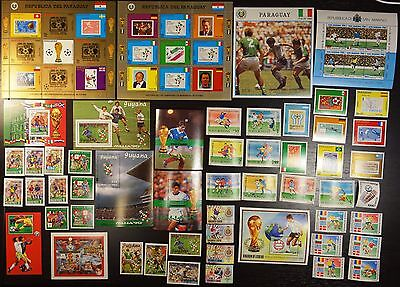 Collection, 1990 World Cup, soccer, football, MNH (07)