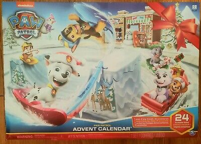 Paw Patrol Advent Calendar 24 Gifts Ages 3+ Christmas Holiday Toy Ready to Ship