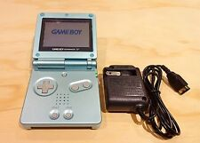 Nintendo Game Boy Advance GBA SP Pearl Blue System MINT NEW W/ CHARGER!