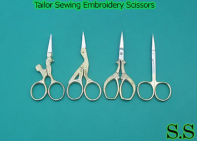 4 PCS Tailor Sewing Embroidery Scissors Variety Pack BRAND NEW
