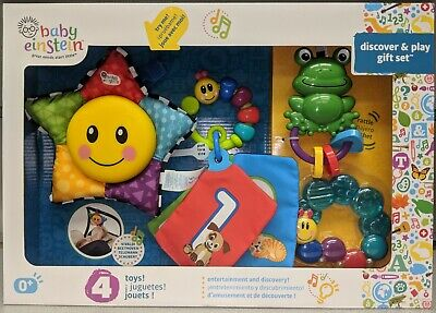 Baby Einstein Discover and Play Baby's Gift Set 4 Activity Toys for (Baby Einstein Gift Set)