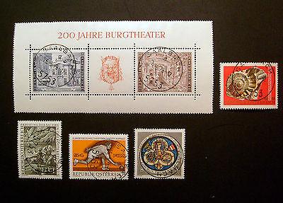 Österreich  -  Michel-Nr. 1510 , 1512 - 1514 , Block 3    -  gestempelt