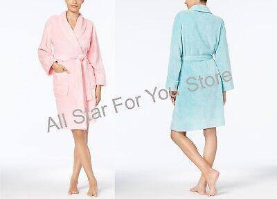 Charter Club Short Robe Super Soft Heather Wrap Robe  M,L,XL