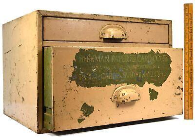 Vintage Paper-cardboard-envelopes Metal Cabinet 2-drawer Beekman Co. Of N.y.c.