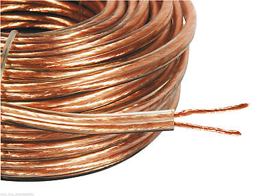 20M 15AWG LOUD SPEAKER CABLE HIGH QUALITY COPPER WIRE 2x 2MM 80 STRANDS